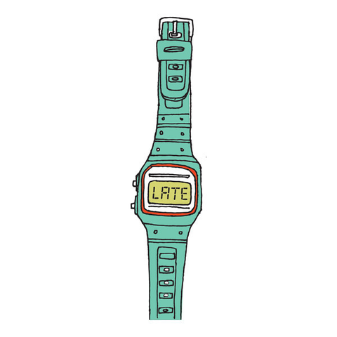 You're Late (Turquoise) Watch Tattoo