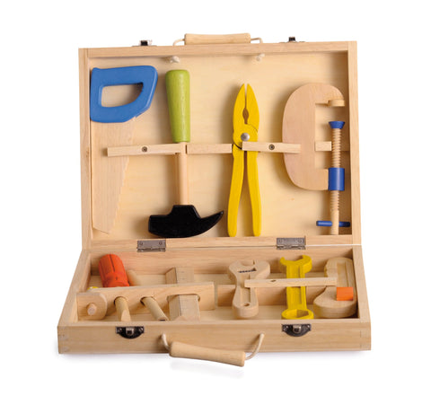 Egmont Toys Wooden Pretend Play Tool Kit with Tools
