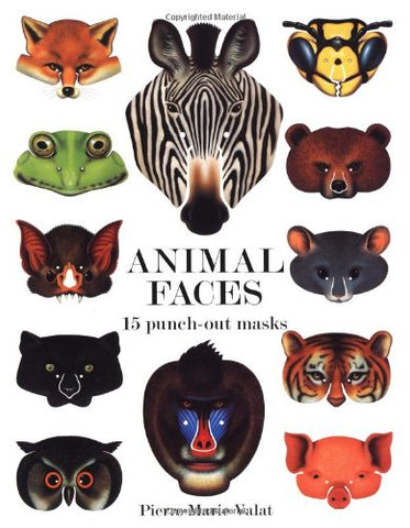Animal Faces 15 Punch-Out Masks