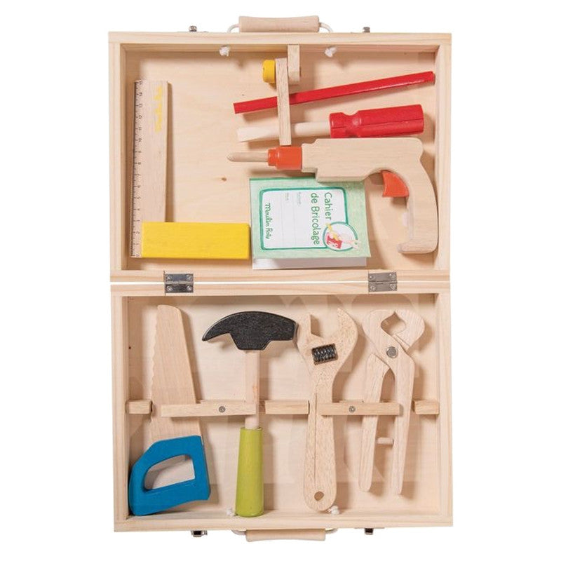 """I am Working"" Wooden Tool Valise"