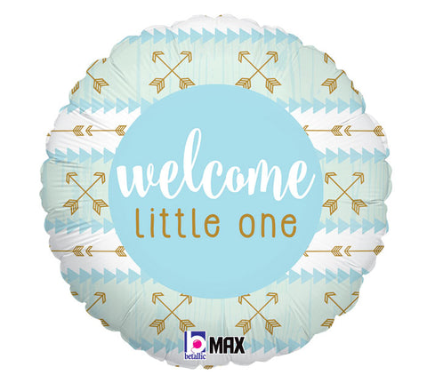 Baby Welcome Little One Blue Foil Balloon