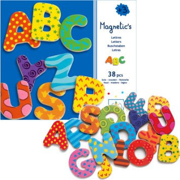 ABC Fancy Wooden 38 Letters