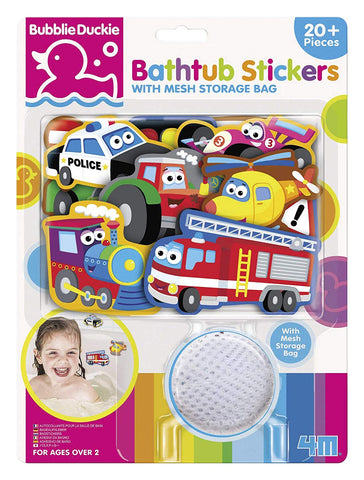 Bathtub Stickers - Transportation