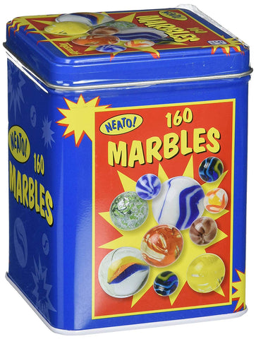 Classic Marbles Tin Box 160 Pieces