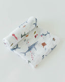 Cotton Muslin Swaddle Single - Shark