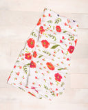 Cotton Muslin Swaddle Single - Summer Poppy