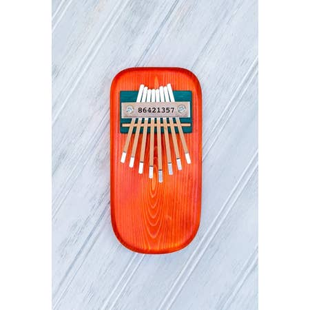 Thumb Piano - Orange Pine