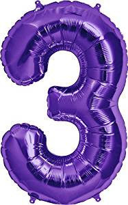 "Number 3 Extra Large 34"" Foil Balloon"