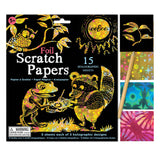 Foil Scratch Papers 15 Holographic Sheets