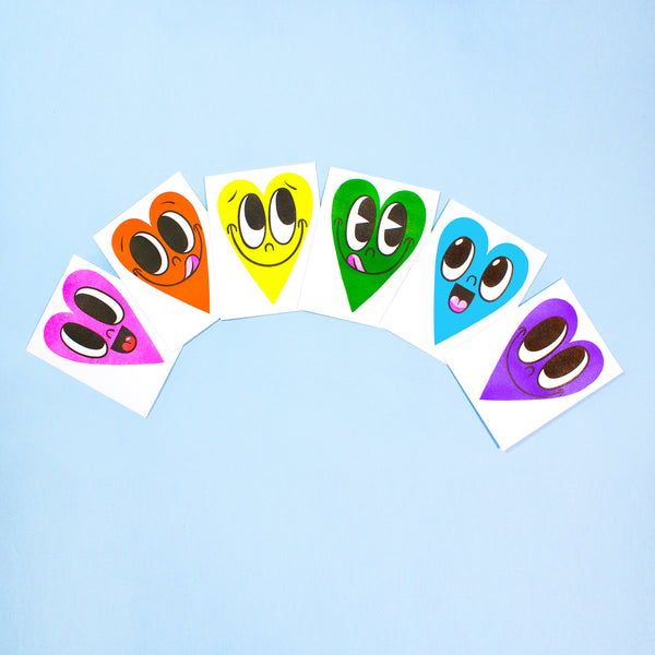 Happy Heart Card - RAINBOW SET