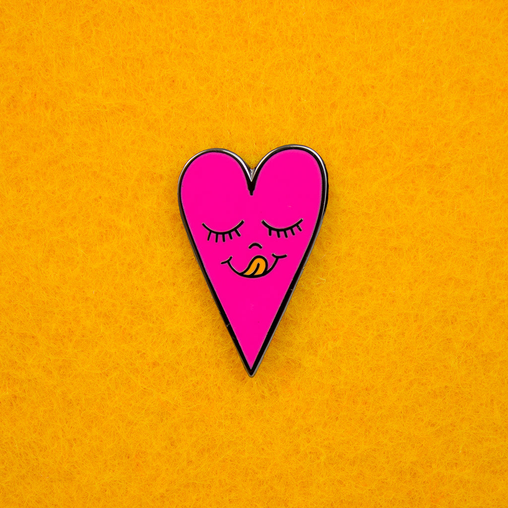 Neon Pink Heart Pin
