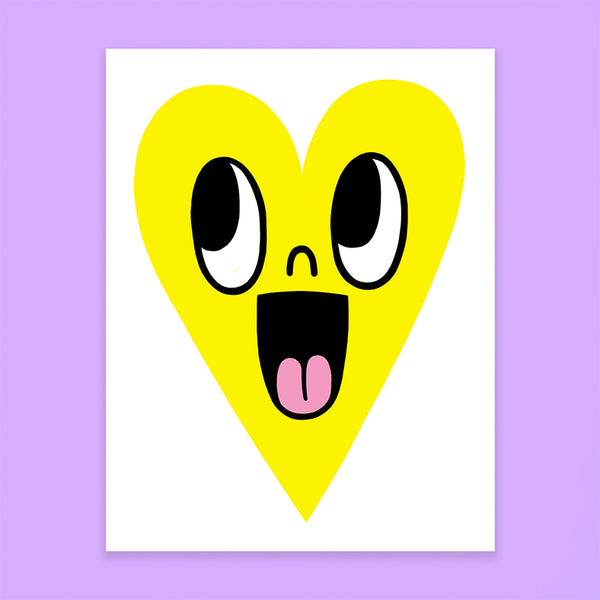 Happy Heart Card - Sour Lemon