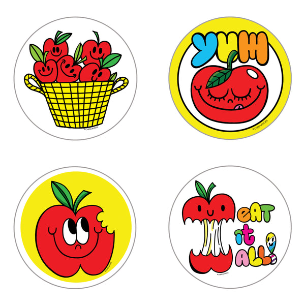 Scratch and Sniff Sticker Set of 16 - Apple