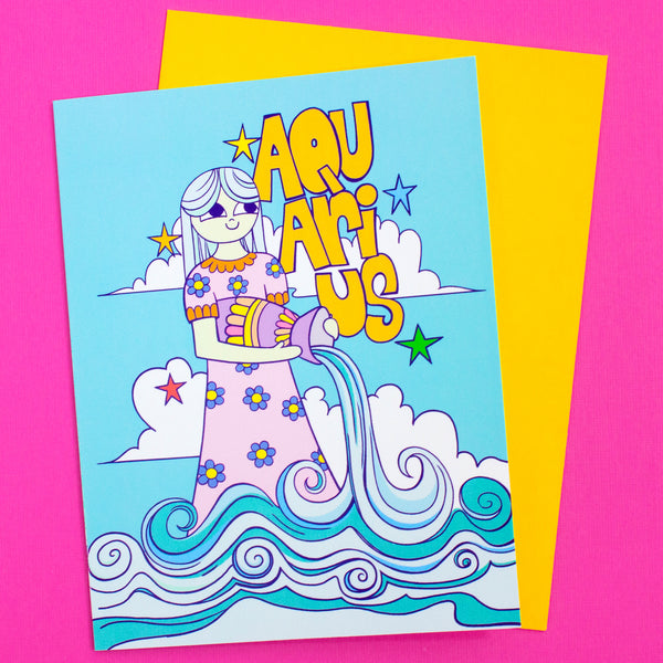 Zodiac Card: Aquarius