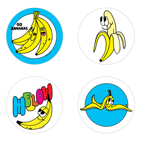 Scratch and Sniff Sticker Set of 16 - Banana