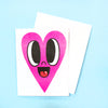 Happy Heart Card - Electric Pink