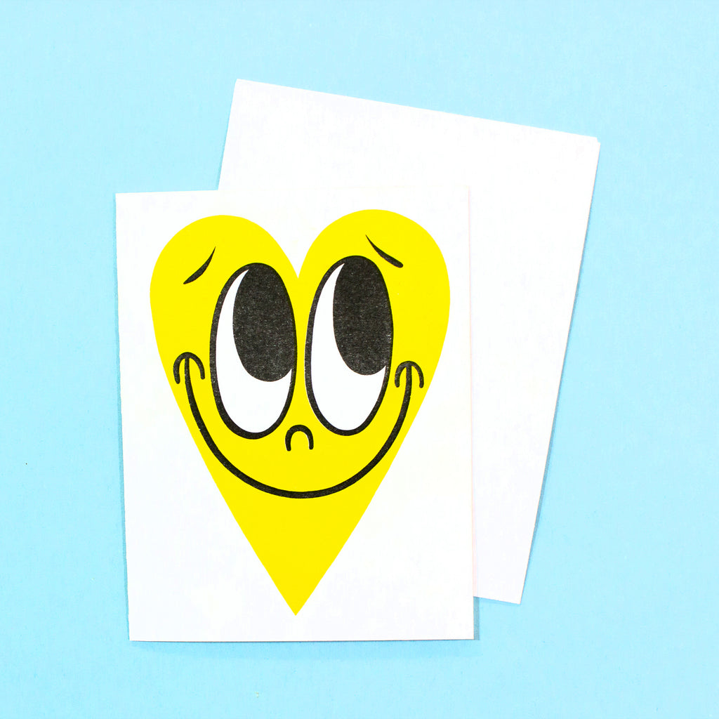 Happy Heart Card - Sunshine Yellow