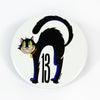 "Scared Lucky Glow-in-the-Dark 3"" Pin-Back Button"