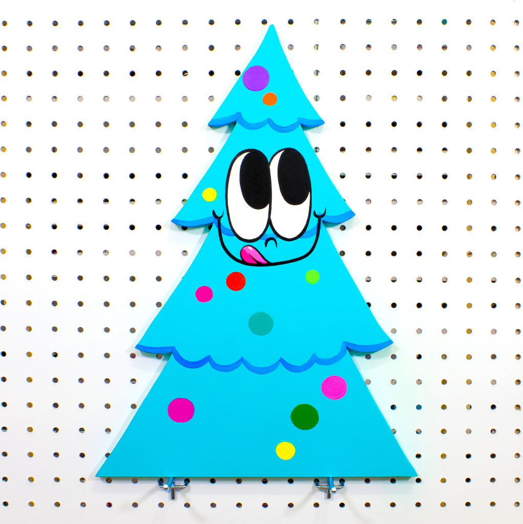 Friendly Festive Tree Cut-Out Painting