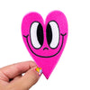 Crosseyed Hot Pink Heart Patch