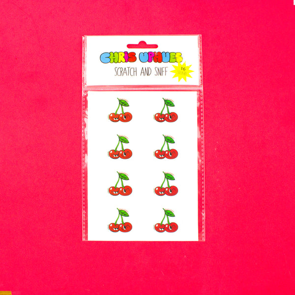 Scratch and Sniff Sticker Set of 16 - Wild Cherry
