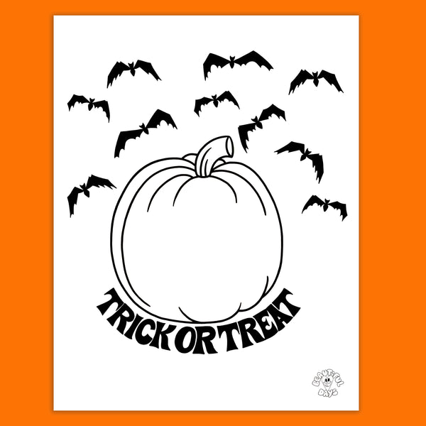 DIY Jack-O-Lantern Coloring Page - Free Downloadable PDF