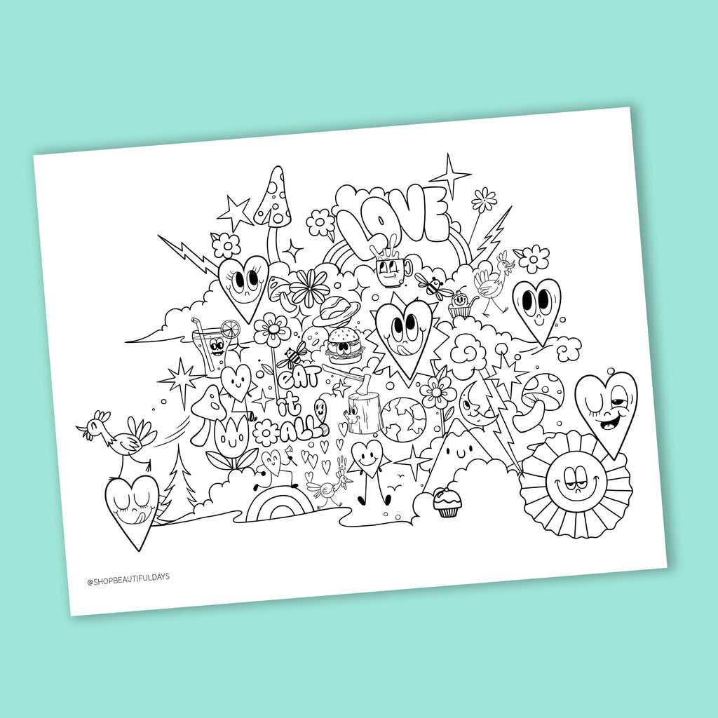 Eat It All Coloring Page - Free Downloadable PDF
