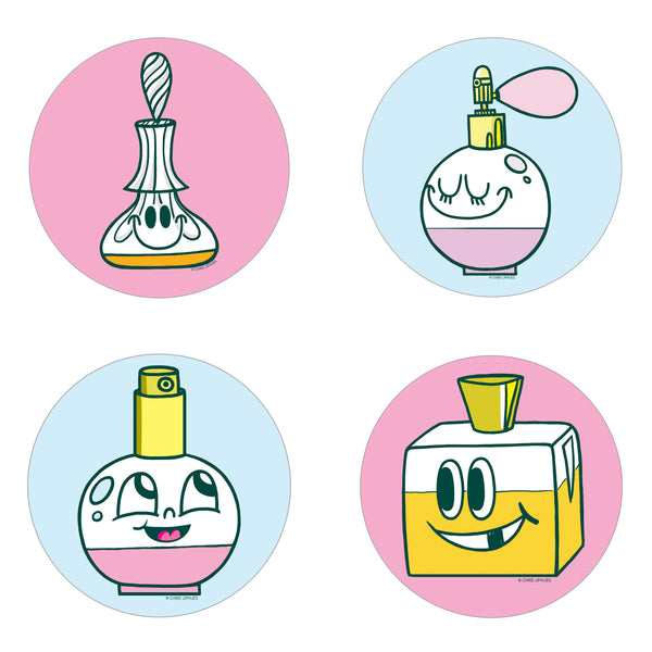 Scratch and Sniff Sticker Set of 16 - Eau de Toilette