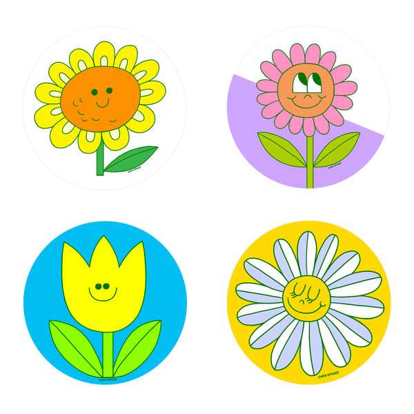 Scratch and Sniff Sticker Set of 16 - Flower Power