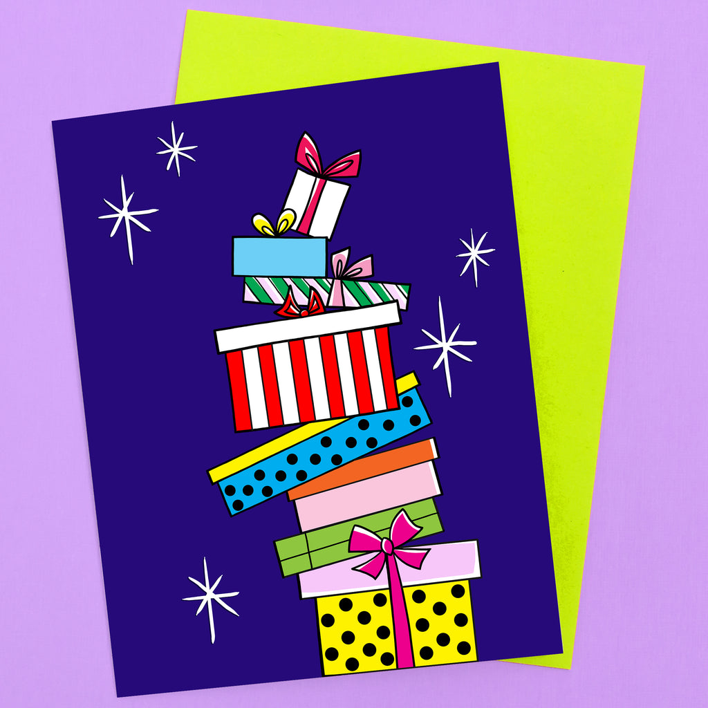 Gifts on Gifts Holiday Card