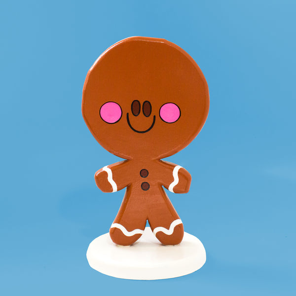 Extra Sweet Gingerbread Man Sculpture