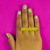 Girlfever Two-Finger Glitter Ring