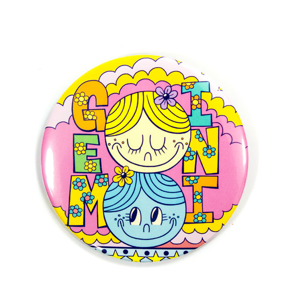 "3"" Zodiac Button / Travel Mirror: Gemini"