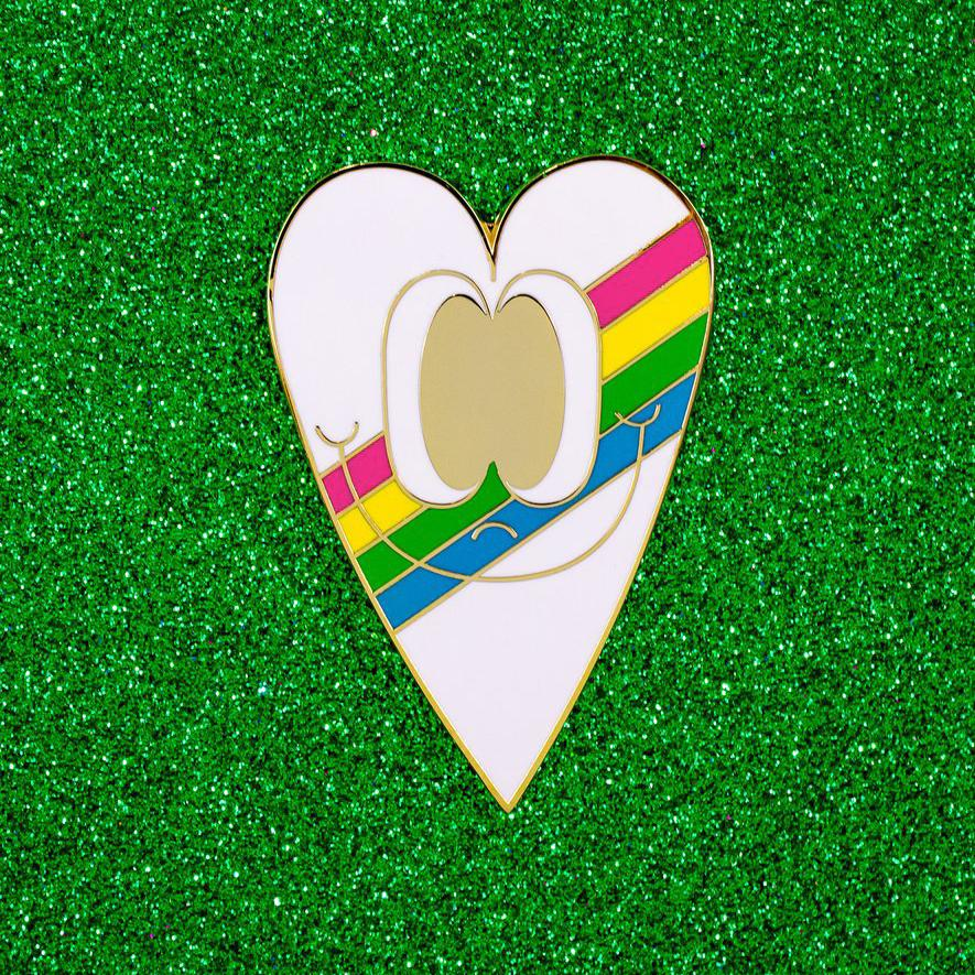 XL Rainbow Heart Pin