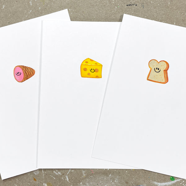 Mini Paintings: Ham and Cheese Sammie