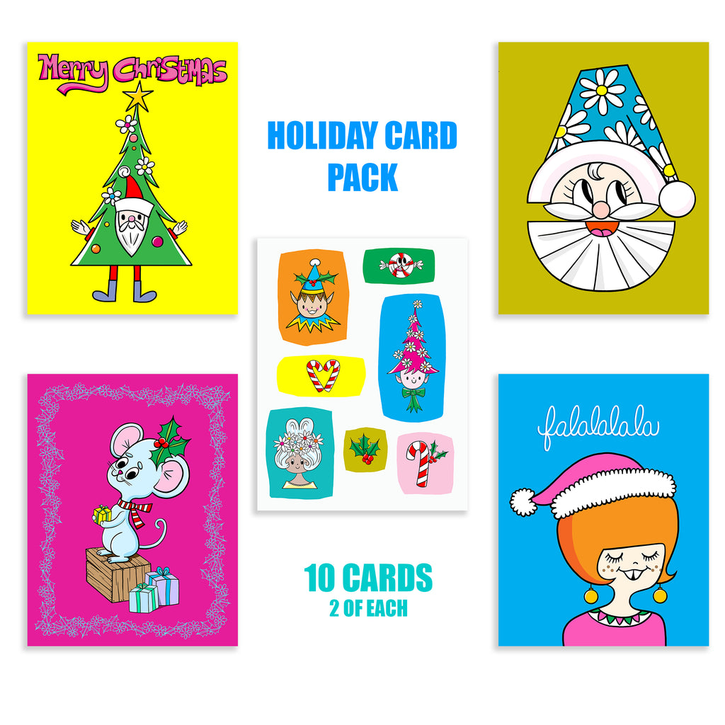 HOLIDAY CARD PACK OF 10
