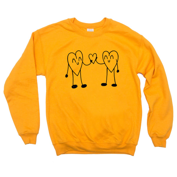 Heart to Heart Gold Unisex Sweatshirt
