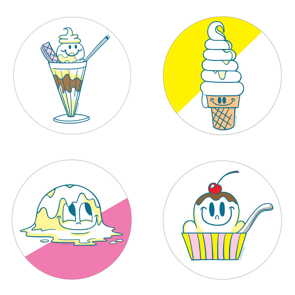 Scratch and Sniff Sticker Set of 16 - Vanilla Ice Cream
