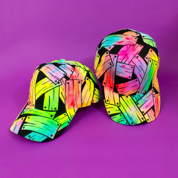 Hand Painted Neon Dad Hats