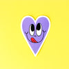 Grape Sweetheart Vinyl Sticker