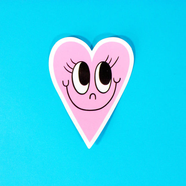 Baby Pink Sweetheart Vinyl Sticker