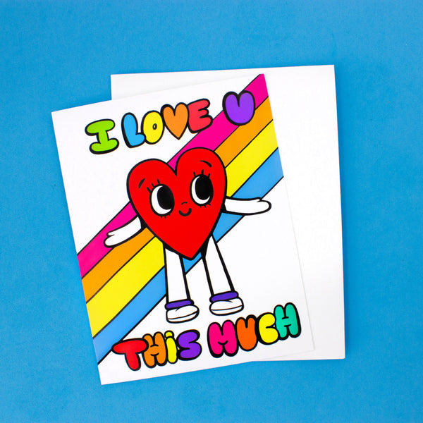 Rainbow Heart Card - I Love You This Much