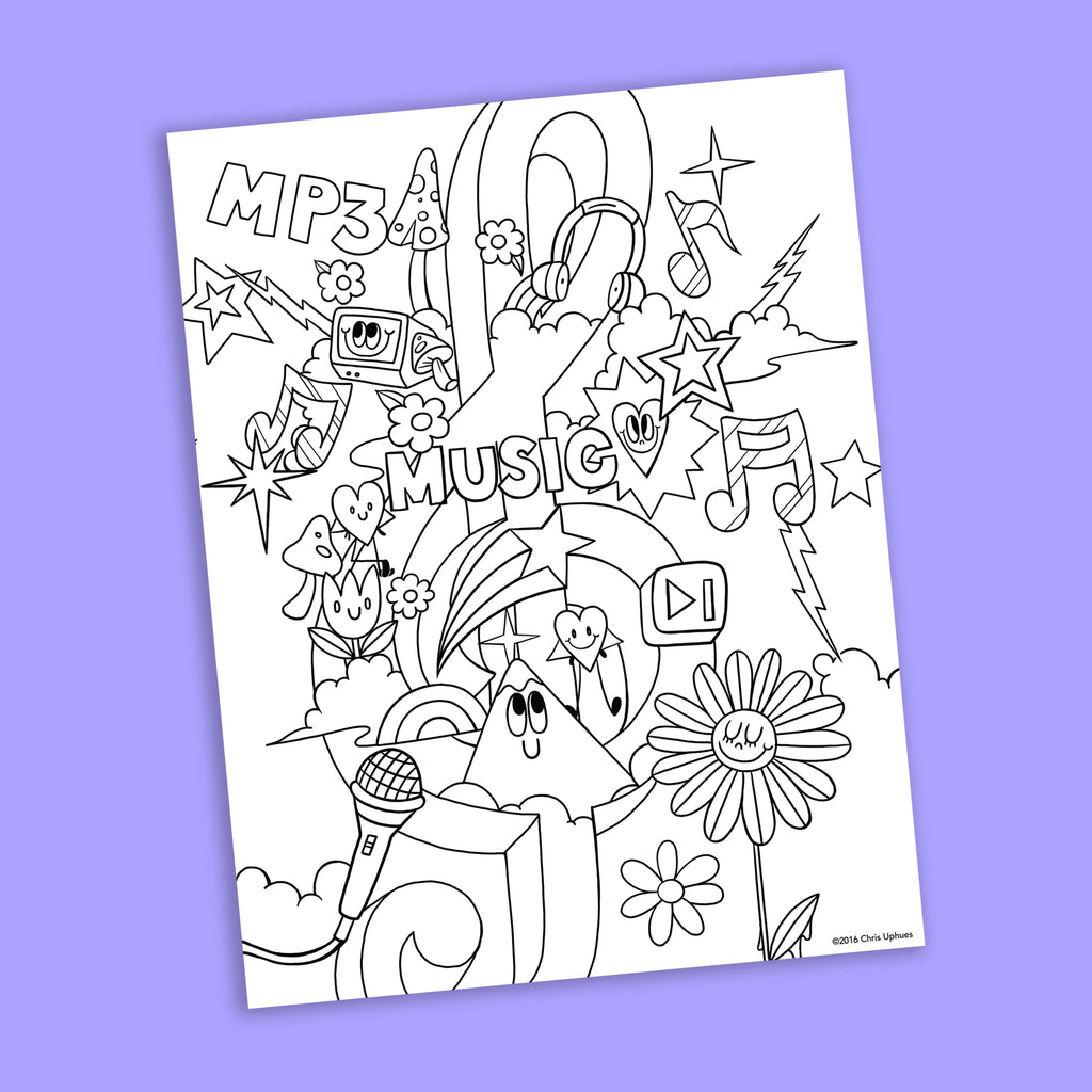Jam Session Coloring Page - Free Downloadable PDF