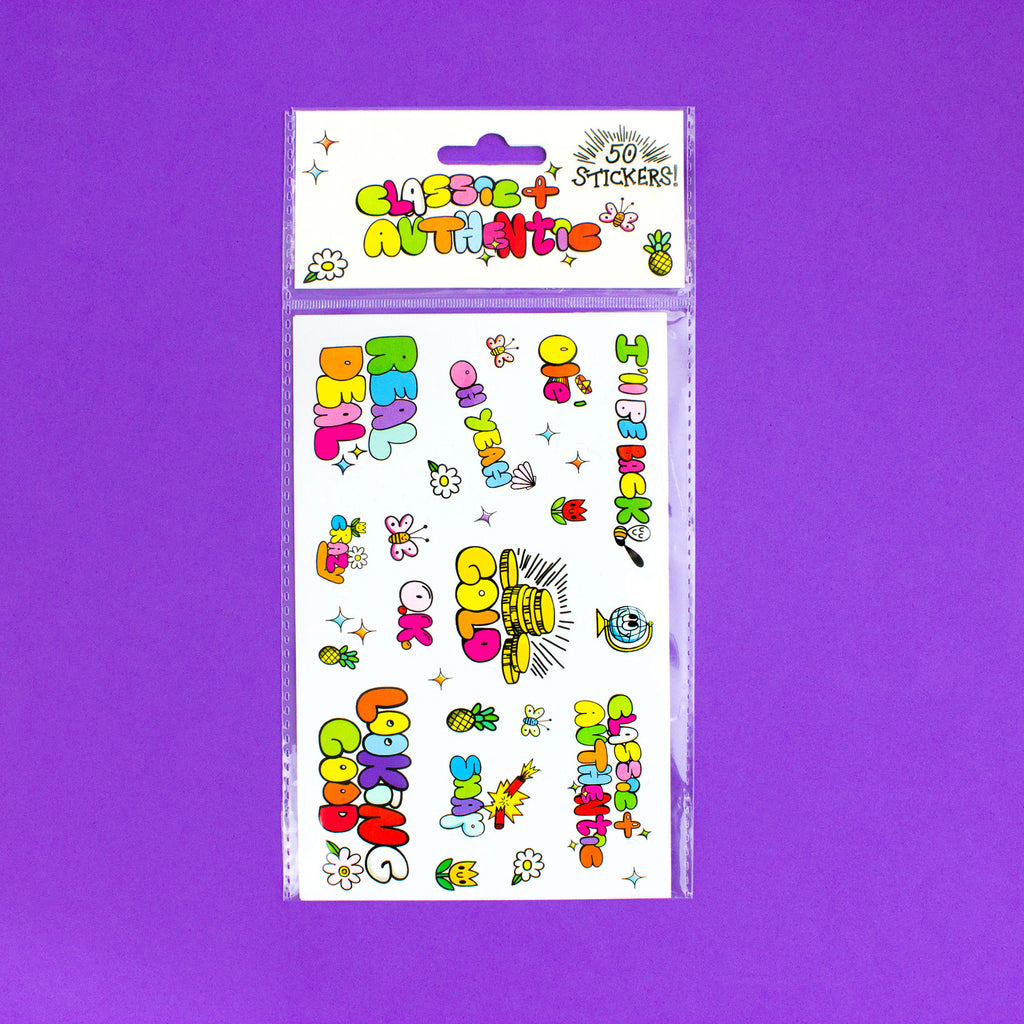 Classic & Authentic Sticker Set of 50