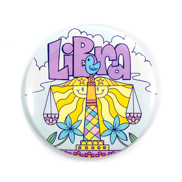 XL Zodiac Button: Libra