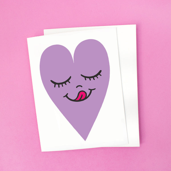 Happy Heart Card - Lavender Heart