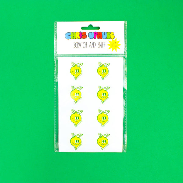 Scratch and Sniff Sticker Set of 16 - Lemon