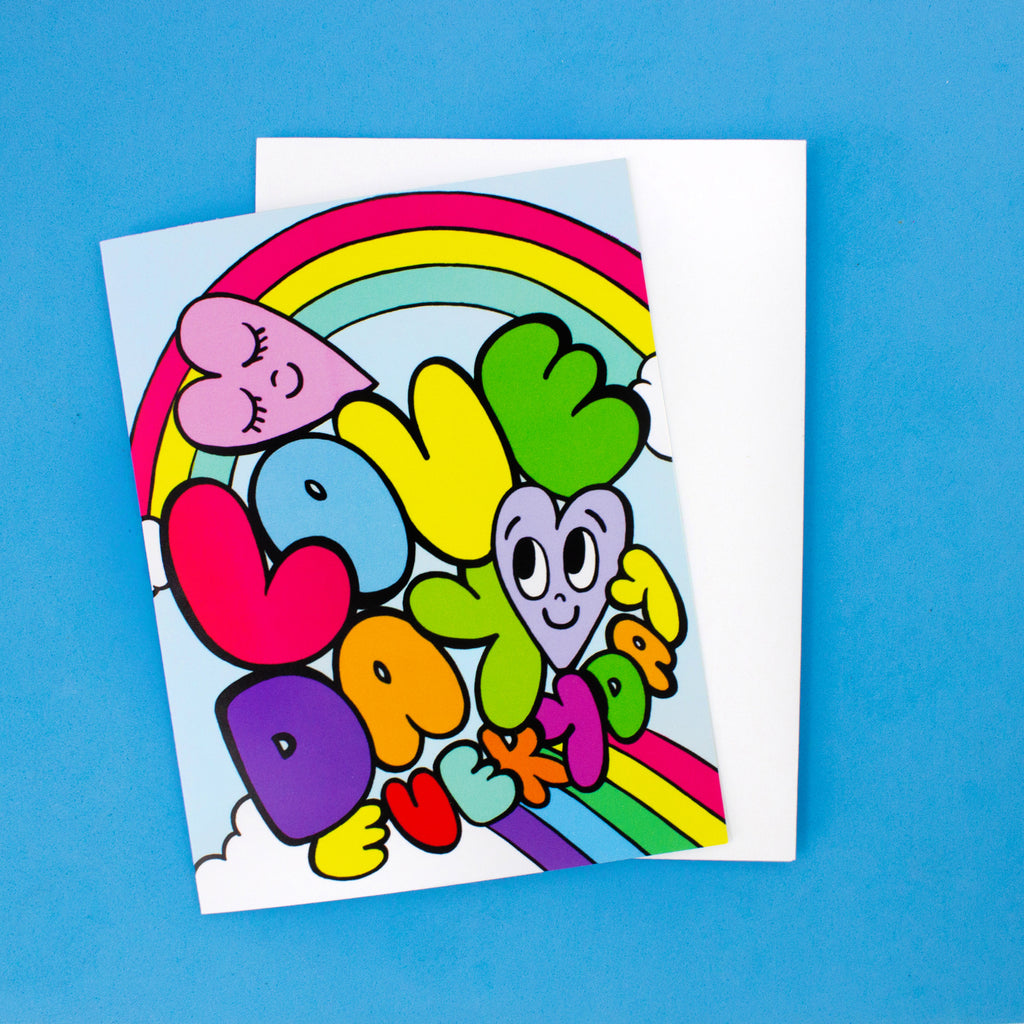 Rainbow Heart Card - Love Day