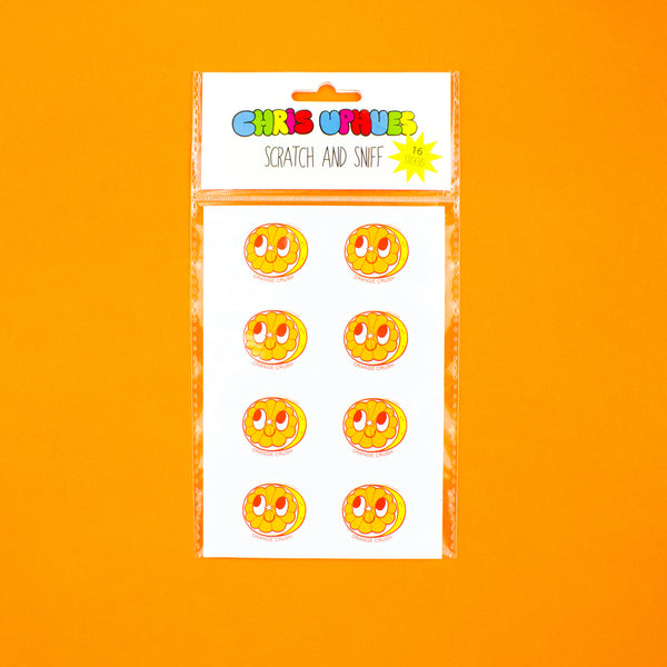 Scratch and Sniff Sticker Set of 16 - Orange Crush