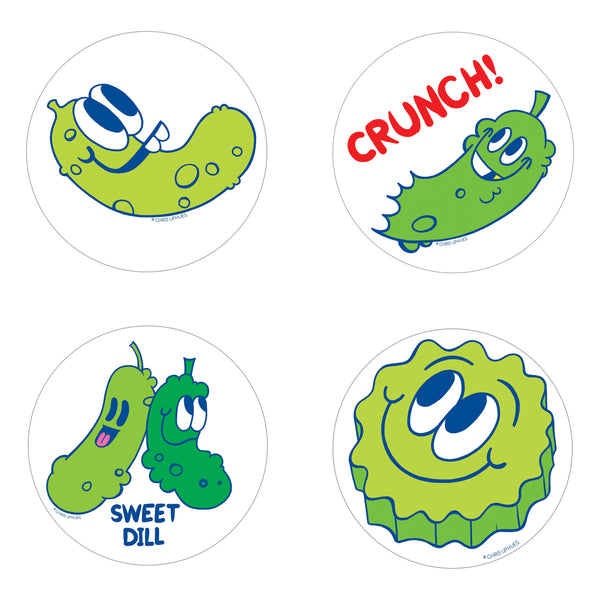 Scratch and Sniff Sticker Set of 16 - Sweet Pickles